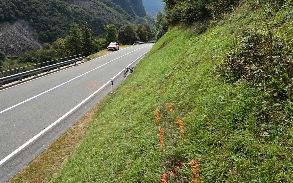 Ciclista ferito a Soazza