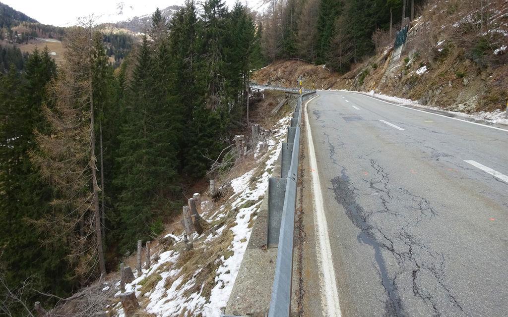 Ampia sistemazione della strada del Bernina