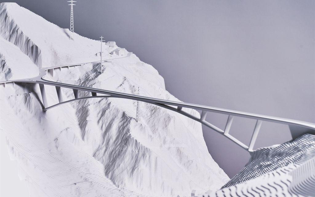 Il nuovo ponte St. Luzi sarà in acciaio e ad arco