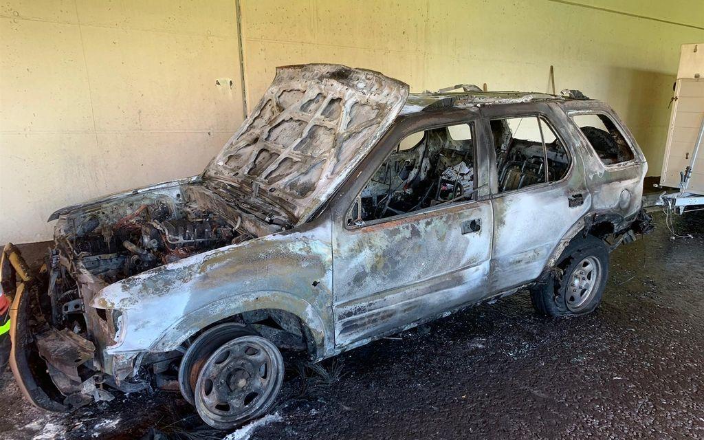 A Mesocco un veicolo in fiamme in galleria