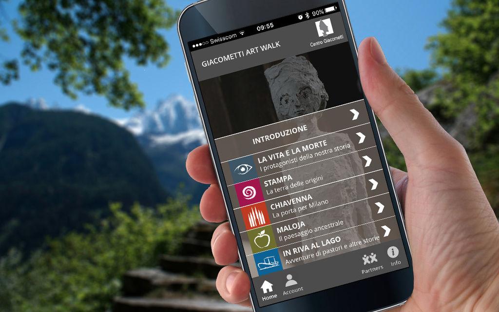 App Giacometti Art Walk aggiornata e fruibile