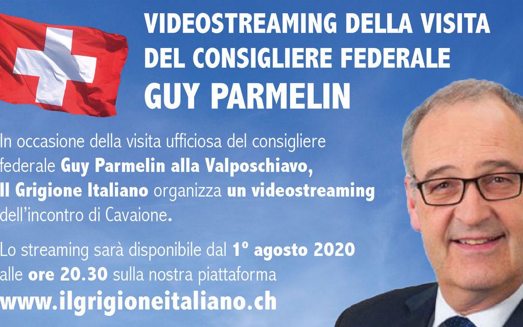 Parmelin in videostreaming da Cavaione