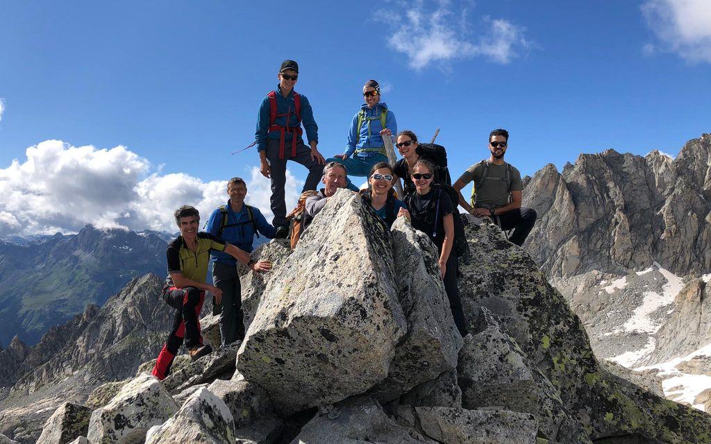 Gita sulla cima del Cantun in Bregaglia