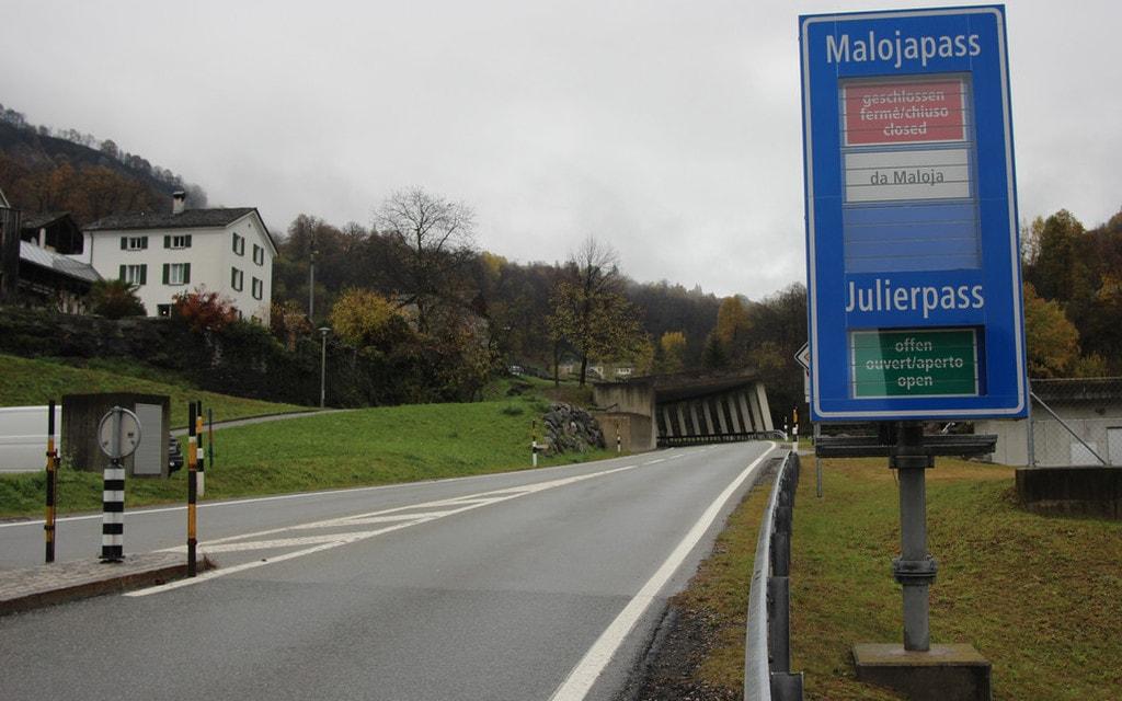 La strada del Maloja riaprirà a mezzogiorno