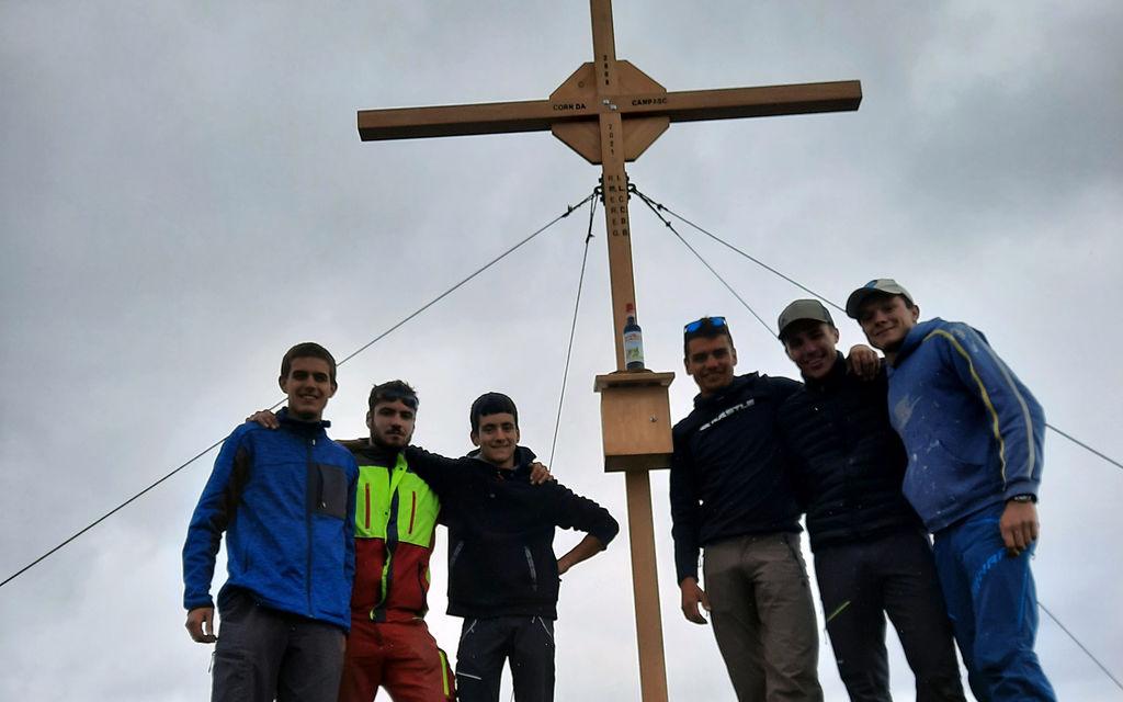 Una croce in cima al Corn da Campasc