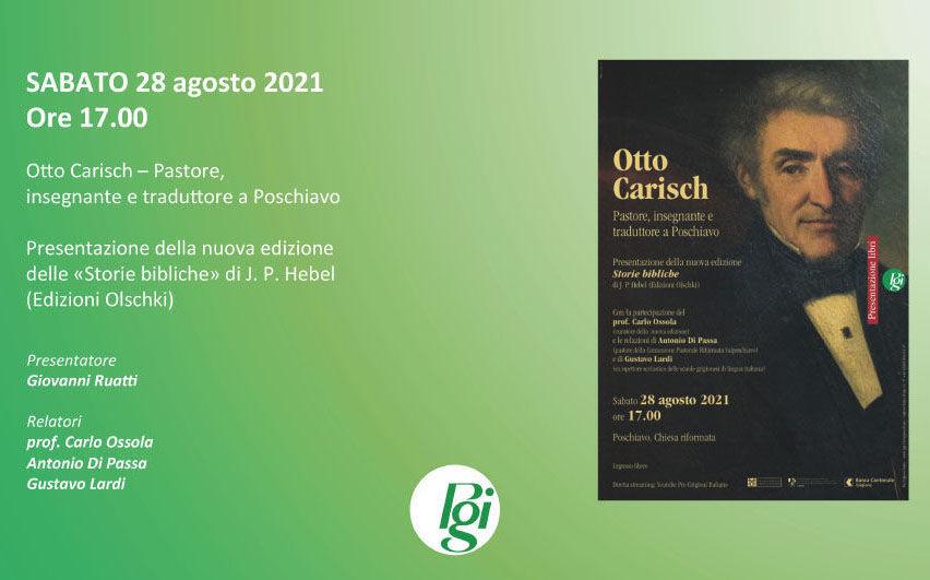 Diretta streaming della conferenza su Otto Carisch